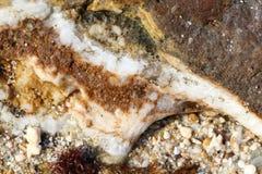 Rotsen - texturen en lagen Stock Fotografie
