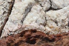 Rotsen - texturen en lagen Stock Foto's