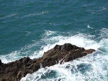 Rotsen van de kust van Ajuy stock footage