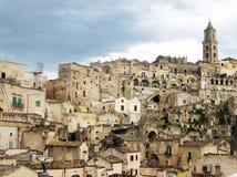 Rotsen van Matera Stock Fotografie