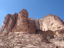 Rotsen in wadirum royalty-vrije stock foto's