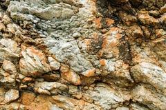 Rotsenoppervlakte, klippentextuur, stapel van stenen Close-up natuurlijke achtergrond stock afbeeldingen
