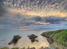 Rotsfenomeen genoemd de Schepen, Bulgarije, de Zwarte Zee - panorama Stock Foto