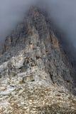 Rotsgezicht in Tre Cime National Park, Dolomiet, Italië Stock Afbeelding