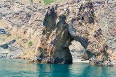 Rotsgolden gate in de Krim royalty-vrije stock afbeelding