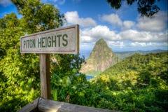 Rotshaakhoogten, St Lucia royalty-vrije stock afbeelding