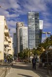 Rotshild Boulevardt van Tel Aviv israël royalty-vrije stock foto's