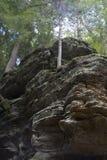 rotsmuur, Ash Cave, Ohio stock afbeeldingen