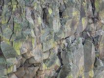 Rotsmuur van een 300 voet diepe canionkloof Stock Foto's