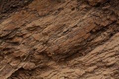 Rotsoppervlakte van bruine kleur Stock Afbeelding
