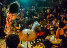 Rotsoverleg bij Bar Jericoacoara Brazilië royalty-vrije stock afbeelding