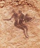 Rotsschilderijen van Tassili N ` Ajjer, Algerije stock foto's