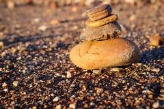 Rotsstapel en grint Stock Foto