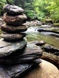Rotsstapel in Vermont Stock Afbeeldingen