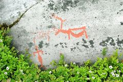 Rotstekeningen in Alta, Noorwegen Royalty-vrije Stock Afbeelding