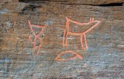 Rotstekeningen in Troms Stock Afbeelding