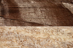 Rotstekeningen in Valcamonica 1 stock afbeeldingen
