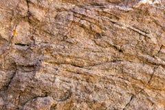 Rotstextuur en oppervlakteachtergrond Gebarsten en doorstaan natur Stock Foto