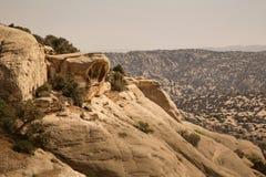 Rotsvorming in Dana National Park, Jordanië stock foto's