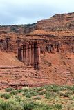 Rotsvorming langs Route 128 in Utah stock foto's