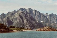 Rotsvorming in Lofoten Royalty-vrije Stock Fotografie