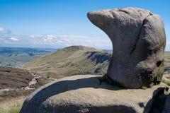 Rotsvormingen bij Hoopvallei in het Piekdistricts Nationale Park, Derbyshire Royalty-vrije Stock Afbeelding