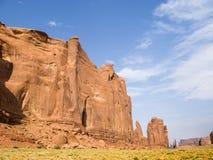 Rotsvormingen bij monumentenvallei Stock Foto's