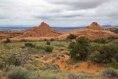 Rotsvormingen, Bogen Nationaal Park, Moab Utah Royalty-vrije Stock Foto's