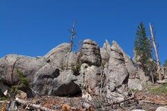 Rotsvormingen in Custer State Park royalty-vrije stock foto