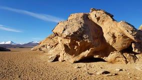 Rotsvormingen in de Siloli-Woestijn, Bolivië royalty-vrije stock afbeeldingen