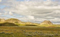 Rotsvormingen in een vallei Royalty-vrije Stock Fotografie