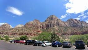 Rotsvormingen en Landschap in Zion National Park stock foto