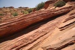 Rotsvormingen in Glen Canyon, Arizona, de V.S. royalty-vrije stock afbeeldingen