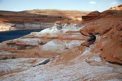 Rotsvormingen in Glen Canyon, de V.S. stock fotografie