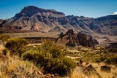 Rotsvormingen in het Nationale park van Gr Teide, Tenerife Royalty-vrije Stock Foto