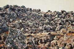 Rotsvormingen in IJsland Royalty-vrije Stock Afbeelding