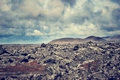 Rotsvormingen in IJsland Stock Foto's