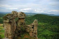 Rotsvormingen in Itacolomi, Brazilië Stock Afbeelding