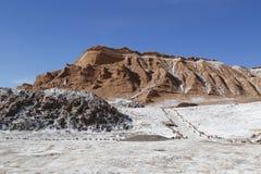 Rotsvormingen van de Maanvallei Stock Afbeeldingen