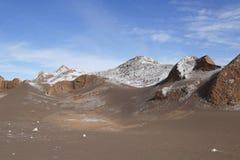 Rotsvormingen van de Maanvallei Stock Foto