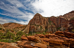 Rotsvormingen in Zion National Park. Royalty-vrije Stock Foto