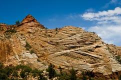 Rotsvormingen in Zion National Park. Stock Foto's