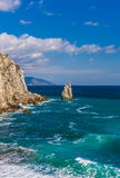 Rotszeil in Gaspra Yalta Stock Foto's