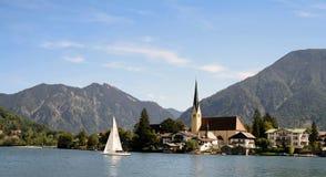 Rottach avec Tegernsee en Bavière Photographie stock