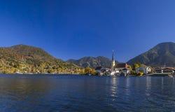 Rottach-Egern στη λίμνη Tegernsee, ανώτερη Βαυαρία Στοκ φωτογραφία με δικαίωμα ελεύθερης χρήσης