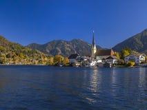Rottach-Egern στη λίμνη Tegernsee, ανώτερη Βαυαρία Στοκ εικόνες με δικαίωμα ελεύθερης χρήσης