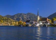 Rottach-Egern στη λίμνη Tegernsee, ανώτερη Βαυαρία Στοκ Εικόνες