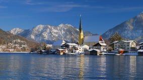 Rottach Egern au lac Tegernsee en hiver, Bavière, Allemagne clips vidéos