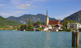 Rottach-Egern,Lake Tegernsee Stock Photo