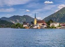 Rottach-Egern nel lago Tegernsee, Baviera superiore Immagini Stock